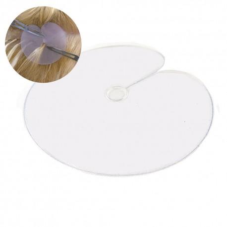 Schutzschablone für Haarverlängerung mit Wärme Methode