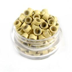 Microringe mit Silikon Blond für 0.5g Strähnen