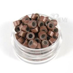 Microringe mit Silikon Schwarz für 0.5g Strähnen