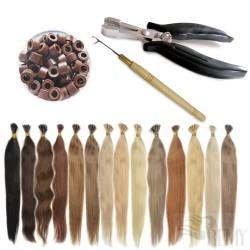 Starter Set 122 Teile I-Tip Haarverlängerung (0.5g)