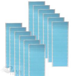 12 Super Hair Tape Blue Liner Ersatz Klebestreifen  Hair Extensions