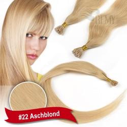 45cm,60cm Glatt 200 Strähnen I-Tip 0,5g Bondings Echthaar Microring Extensions