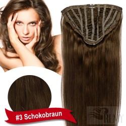 7 Clip Haarteil Halbperücke
