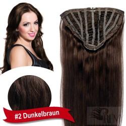 50cm 7 Clip Haarteil Echthaar Halbperücke