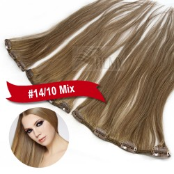 Echthaar Clip In Extensions Single Tresse 9cm 14cm 18cm breit