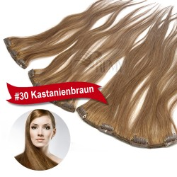 Clip In Extensions Single Tresse 9cm, 14cm, 18cm breit / 3 Clips, 4 Clips