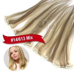 Clip In Extensions Single Echthaar Tresse 3 Clips, 4 Clips