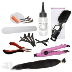 Starter Set 76 Teile Bonding Haarverlängerung