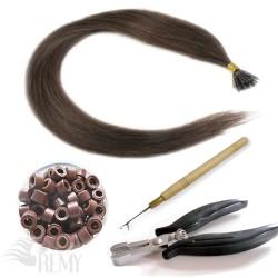 Starter Set 122 Teile I-Tip Haarverlängerung 1g
