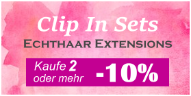 Clip in Sets - Clip In Extensions und Clip In Haarteile kaufen - Remyhaar Extensions