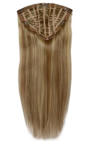 Haarteil kaufen - 7 Clip Haarteil Echthaar - Echthaar Haarteil Halbperücke kaufen