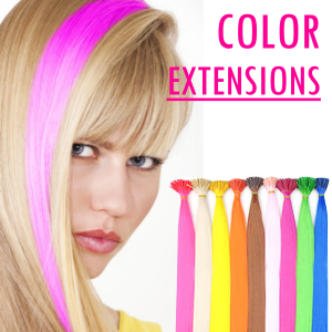 Bunte Strähnchen Farbige Extensions Strähnen