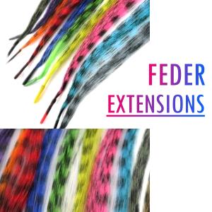 Feder Strähnen Feder Extensions